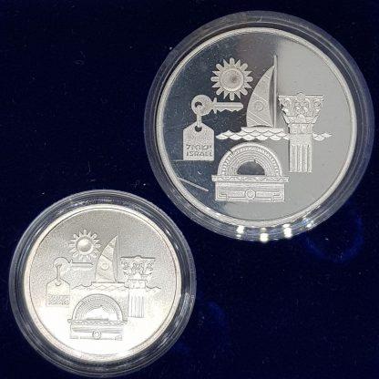 סט מטבעות כסף תיירות בישראל