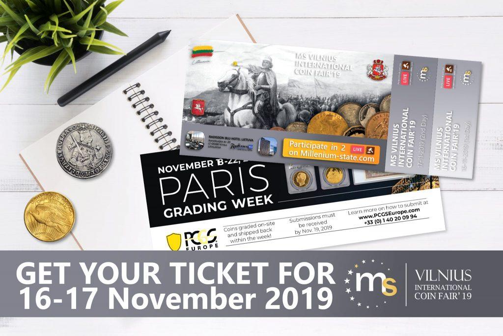 Vilnius International Coin Fair 2019 16-17th November 2019