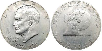 1 דולר 1976 מכסף