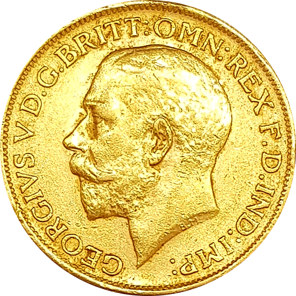1 סוברין אנגלי זהב 22 קראט