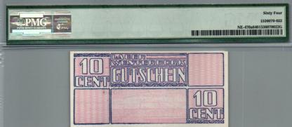 """10 סנט גטו וסטרבוק 1944 בדירוג 64 Choice Uncirculated ע""""י ה PMG"""