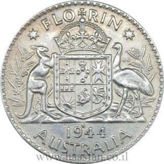 1 פלורין 1944 מכסף 0.925, אוסטרליה