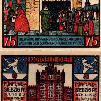 נוטגלד מגוך (חנות כלבו גרמניה) - 75 פנינג משנת 1922