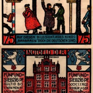 נוטגלד מגוך (שוחד במעבר גבול) - 75 פנינג משנת 1922
