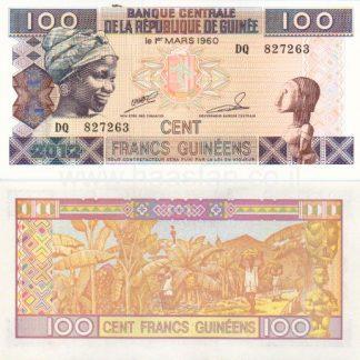 100 פרנק 2012, גינאה - UNC