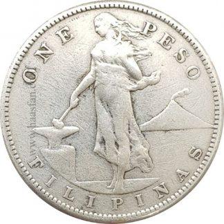 1 פסו 1908, פיליפינים תחת שלטת ארצות הברית - מכסף 0.800