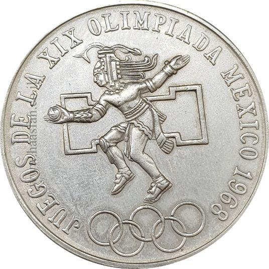 25 פסוס 1968 מקסיקו, כסף 0.720 - משחקים אולימפיים