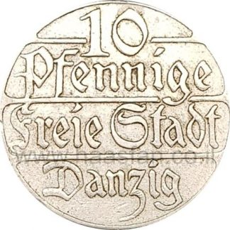 10 פנינג 1923, העיר החופשית דנציג