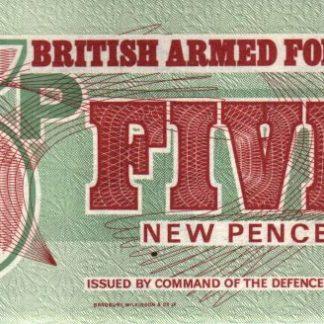 5 פאנס 1962 במצב UNC, אמצעי תשלום של כוחות הצבא הבריטי - סדרה השישית