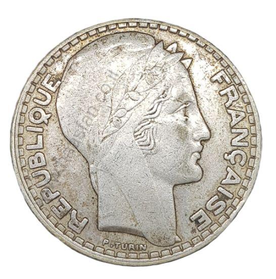 20 פראנק 1933, צרפת - כסף 0.680