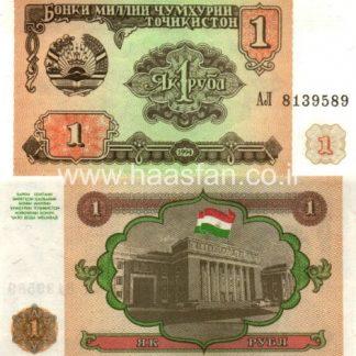 1 רובל 1994, טג'יקיסטן - UNC