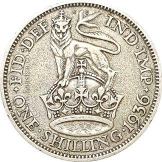 1 שילינג 1936 מכסף 0.500, אנגליה