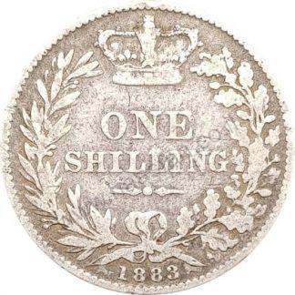 1 שילינג 1883 מכסף 0.925, אנגליה