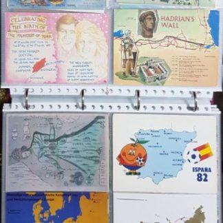 אוסף גלויות דואר המראות מפות