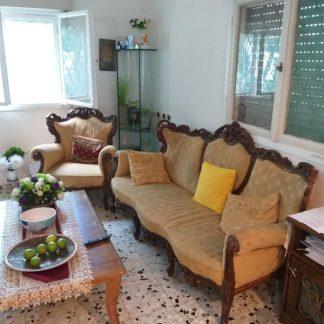 ספה תלת מושבית + 3 כורסאות (וינטאג')