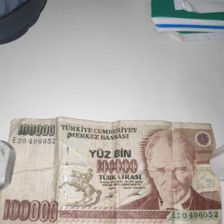 שטר של 100,000 לירה טורקית ישנה - 1970