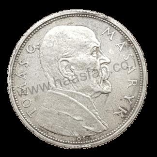 10 קורון 1928, צ'כוסלובקיה - כסף 0.700, 10 שנים לעצמאות - טומש מסריק
