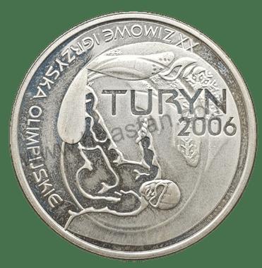 10 זלוטי 2006, פולין - כסף 0.925, המשחקים האולימפיים בטורינו (כמות הטבעה 71,400 יחידות)