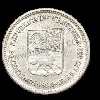 50 סנטימוס 1954, ונצואלה - כסף 0.835