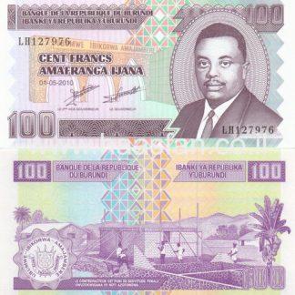 100 פראנק 2010, בורונדי - UNC