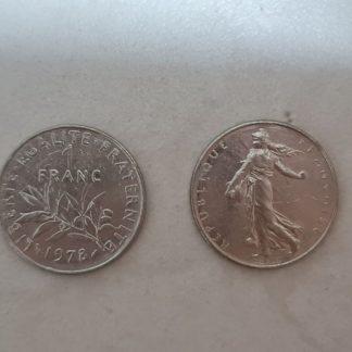 מטבע פראנק אחד צרפתי שנת 1978
