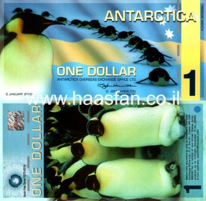 1 דולר 2010, אנטארקטיקה - שטר פנטזיה מפולימר