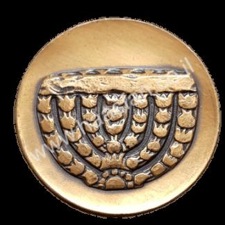 """מדליה ממלכתית מטומבק """"מוזיאון ישראל"""" משנת 1965, כמות הטבעה: 3,327 יחידות בלבד"""