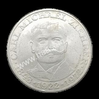 25 שילינג 1972 מכסף 0.800, אוסטריה - 50 שנה למותו של קרל מ.זיהרר, מלחין