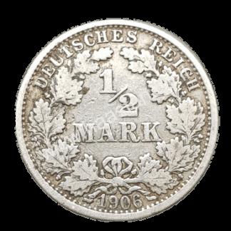 1/2 מארק 1906 מכסף 0.900, אימפריה גרמנית