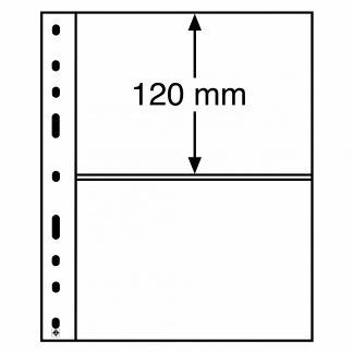 חבילה של 10 דפים איכותיים עבור שטרות גדולים מסדרת OPTIMA עם 2 כיסים דו-צדדים