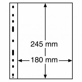 """חבילה של 50 דפים איכותיים מסדרת OPTIMA עבור שטרות וכל סוגי המסמכים עד הגודל 245על180מ""""מ"""