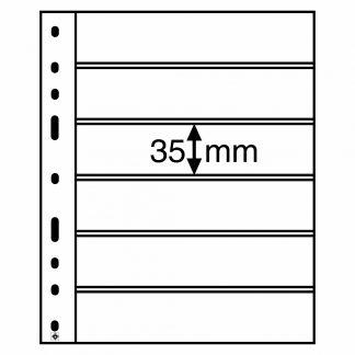 חבילה של 10 דפים שחורים דו-צדדים עבור בולים - מתאים לכל האלבומים מסדרת OPTIMA