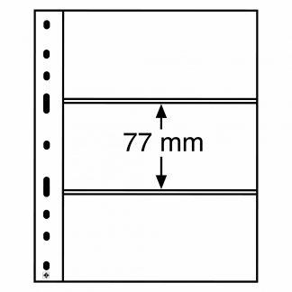 חבילה של 10 דפים איכותיים עבור שטרות מסדרת OPTIMA עם 3 כיסים דו-צדדים