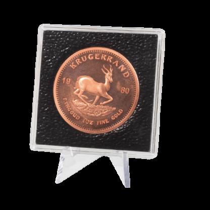 מעמד משולש עשוי פלסטיק שקוף עבור תצוגת מטבעות ומדליות - חבילה של 5