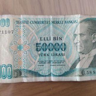 50,000 לירה טורקית