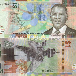 1 דולר 2017, איי בהאמה - UNC (פולימר)