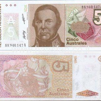 5 אוסטרלס 1986, ארגנטינה - UNC