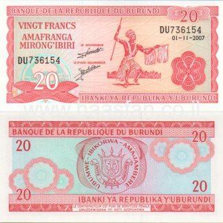 20 פראנק 2007, בורונדי - UNC